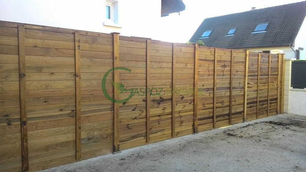 clôture bois grande hauteur