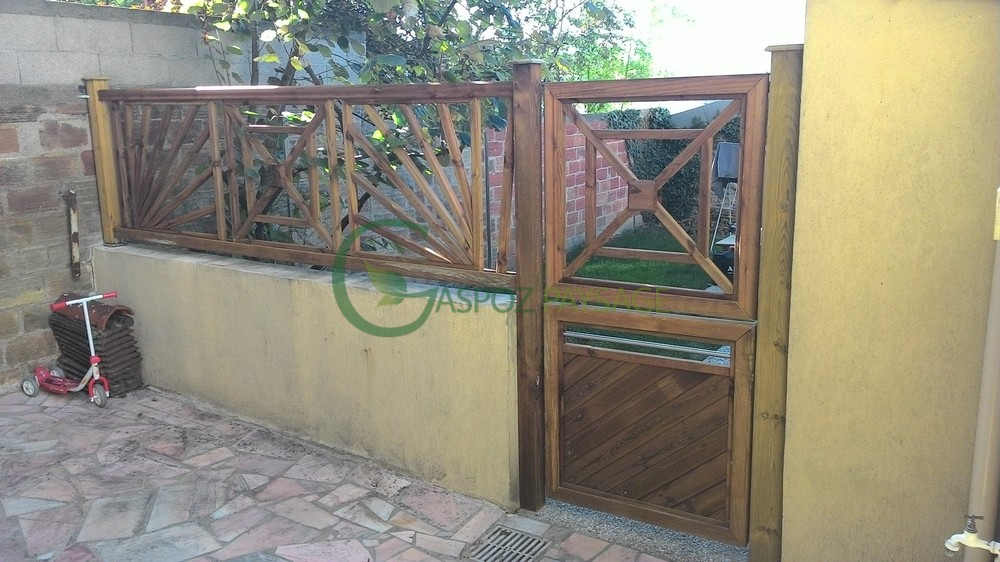 clôture bois - portillon à deux montants